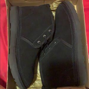 Black Ugg low top boots